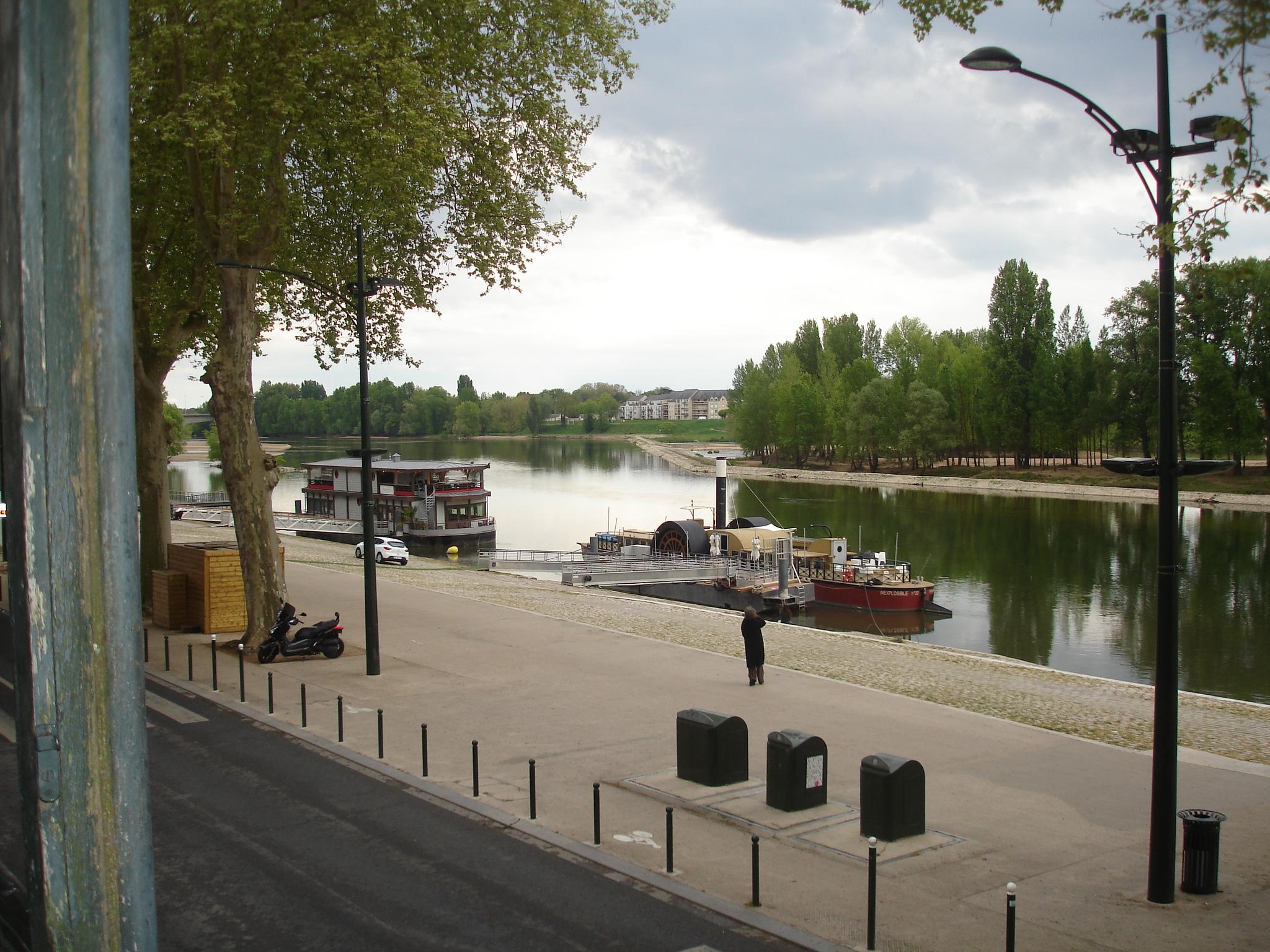 Vue sur les bateaux de la Loire