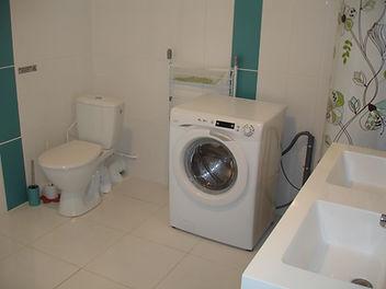 salle d'eau, WC et lave linge