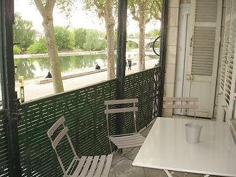 Terrasse avec vue unique sur la Loire