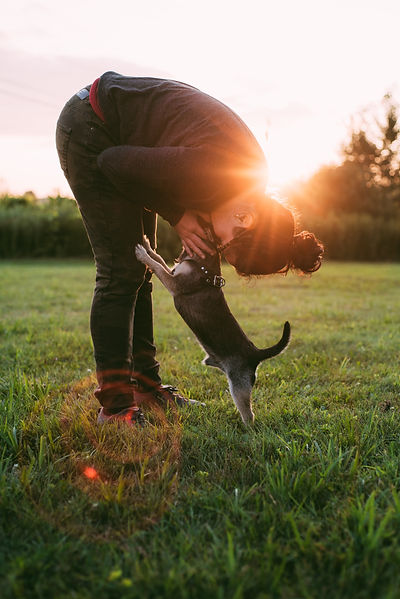 photo-of-person-kissing-a-dog-on-grass-f