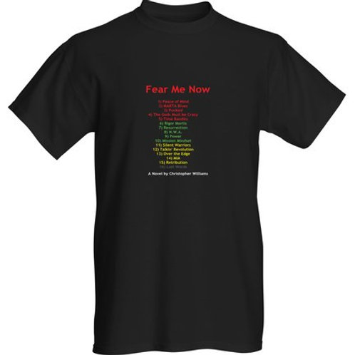 FEAR ME NOW T-Shirt.Chapters in Rastafarian Colors