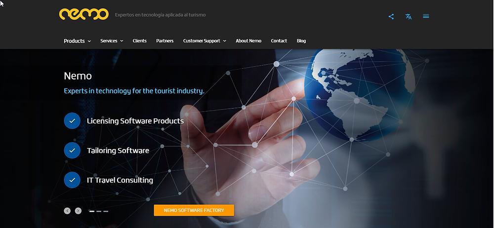 Nemogroup IT platform for travel agencies and OTAs