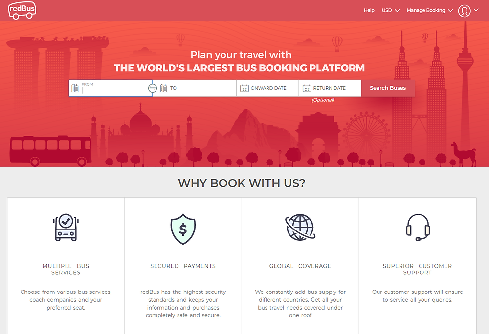 Redbus online travel agency for buses
