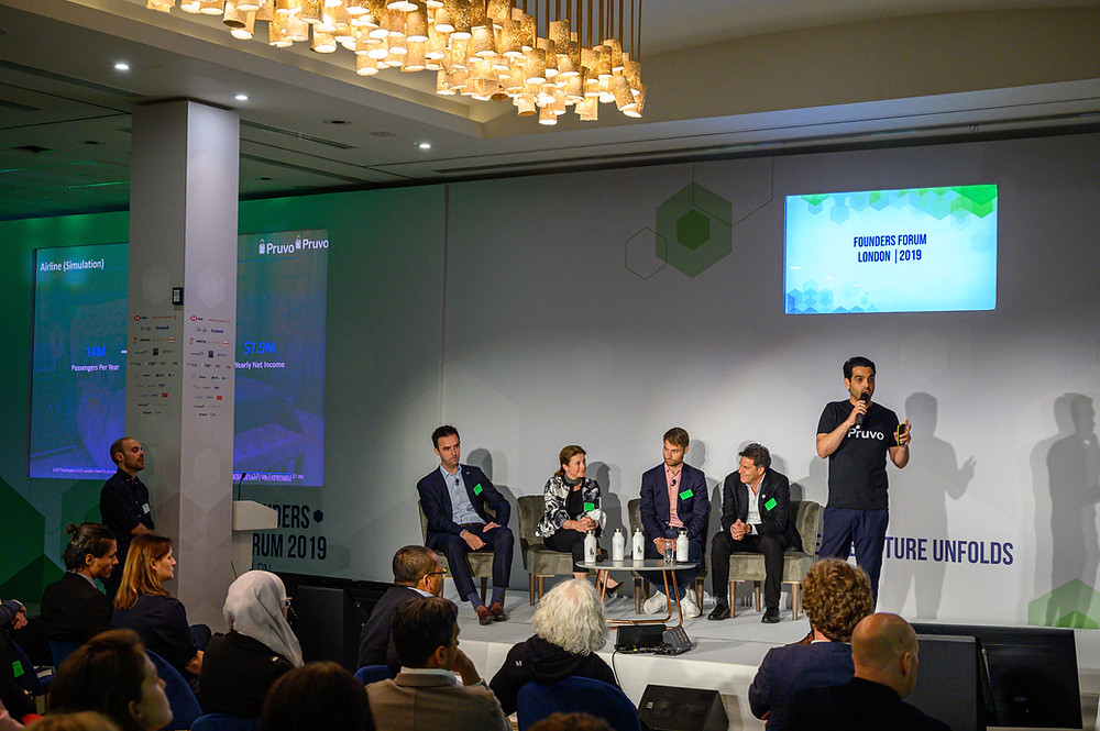 Pruvo´s CEO and Co Founder, Itai Marcipar, speaking at Founders Forum 2019