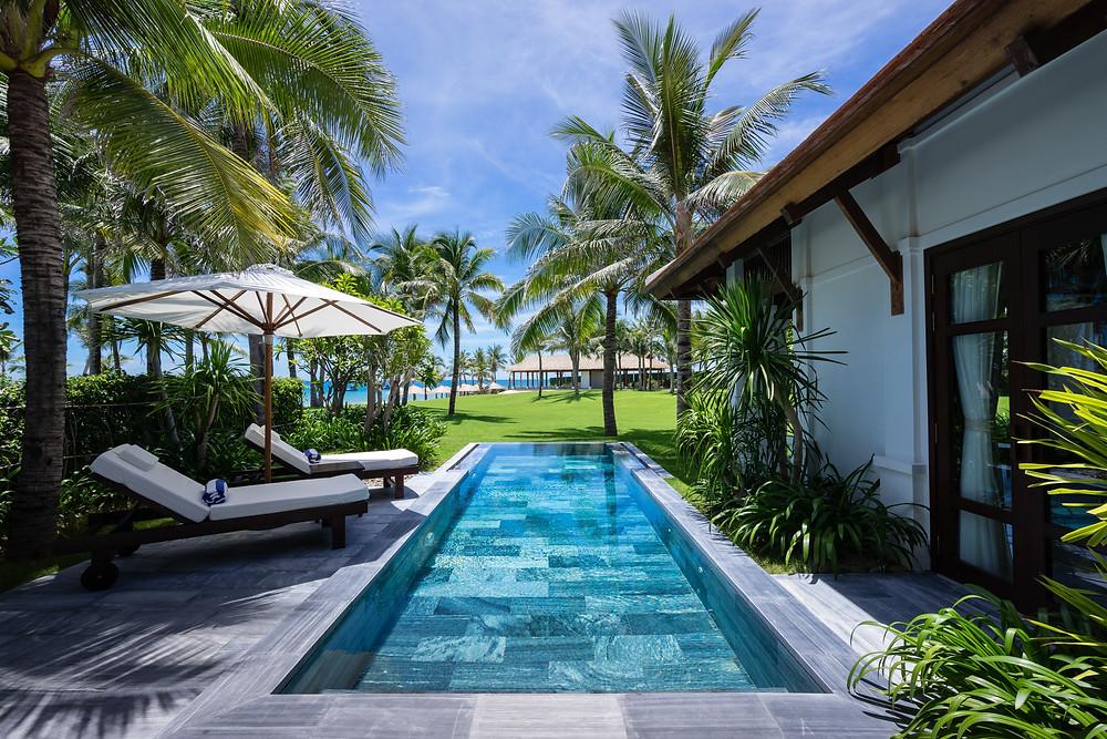 luxury beach front resort