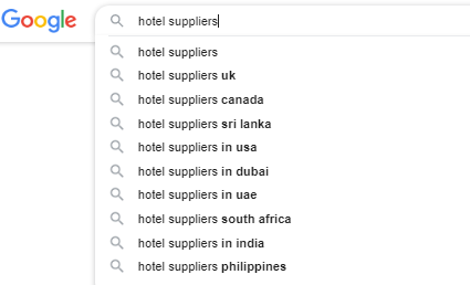 Google Autocomplete for travel search terms
