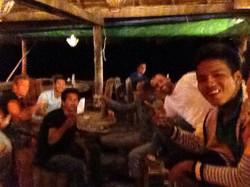 Last night for romain! Cheers ;)