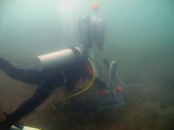 underwater vacuuming