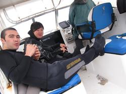 a cold winter dive