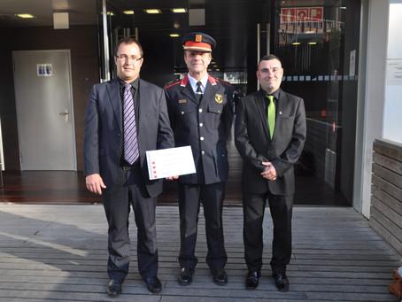 Entrega diploma de los Mossos a MFS Tecnogroup