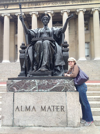 Abby and Alma Mater.jpg