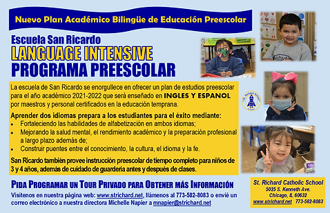 Language Intensive PreK Collateral SPANI