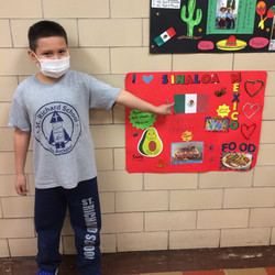 Boy with Poster