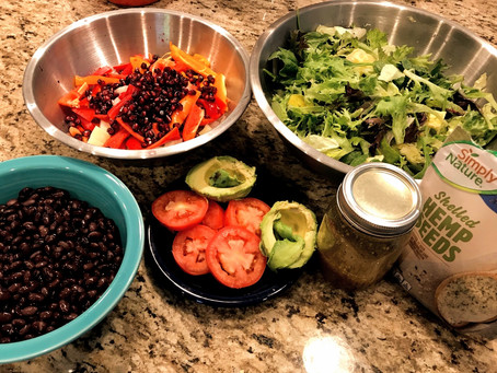 Black Bean and Pomegranate Salad with Dijon Dressing