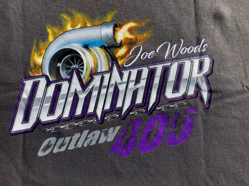 Dominator shirt on gray.