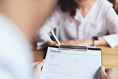 close up photo of a resume