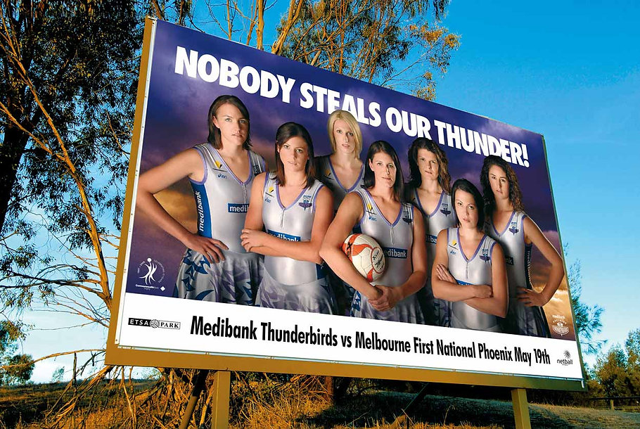 netball sa outdoor billboard example