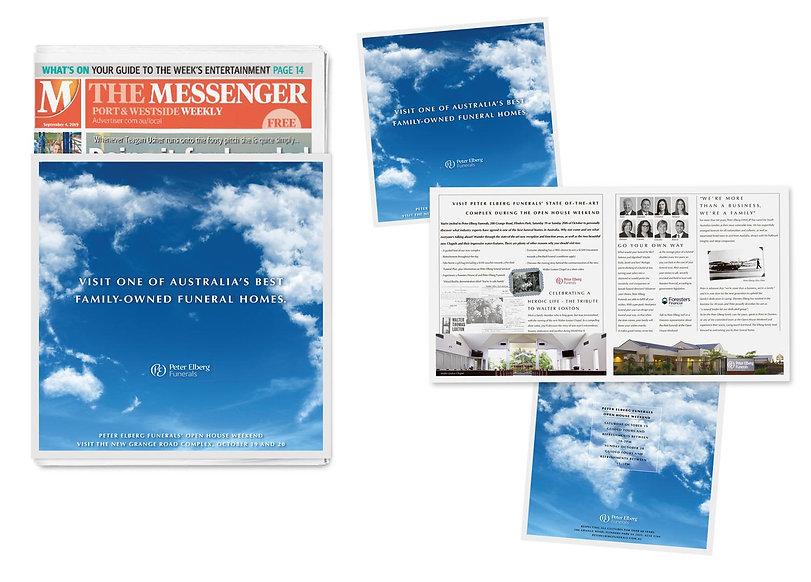 pete elberg funrals messenger newspaper advert