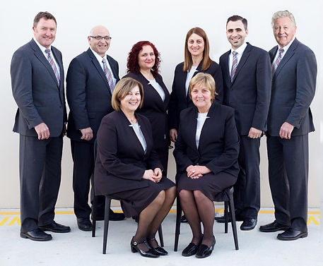 A group shot of the staff from Peter Elberg Funerals