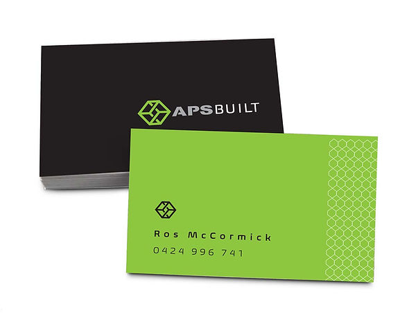 aps built business cards example
