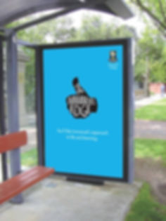 immanuel college bus shelter advert for their branding campaign