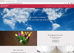 peter elberg funerals new website screenshot