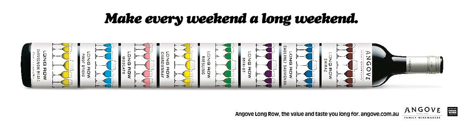 abgove wines magazine advert for long row wines