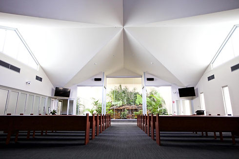Picturesque photo of the Walter Loxton Chapel at Peter Elberg Funerals premises