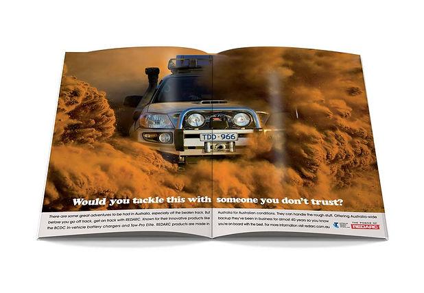 redarc double page magazine advert example