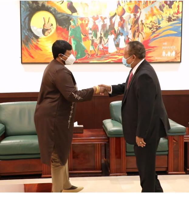 ICC Prosecutor Fatou Bensouda meets Sudanese PM Abdallah Hamdok