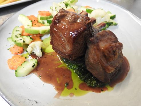 Rack et Filet d'agneau, pesto aïl des ours