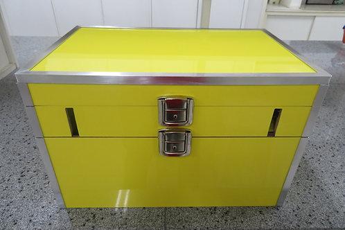 Kit experimental Show de Química em caixa de madeira MDF