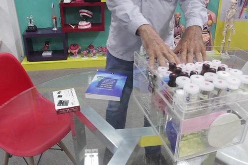 Kit experimental Show de Química em caixa em acrílico