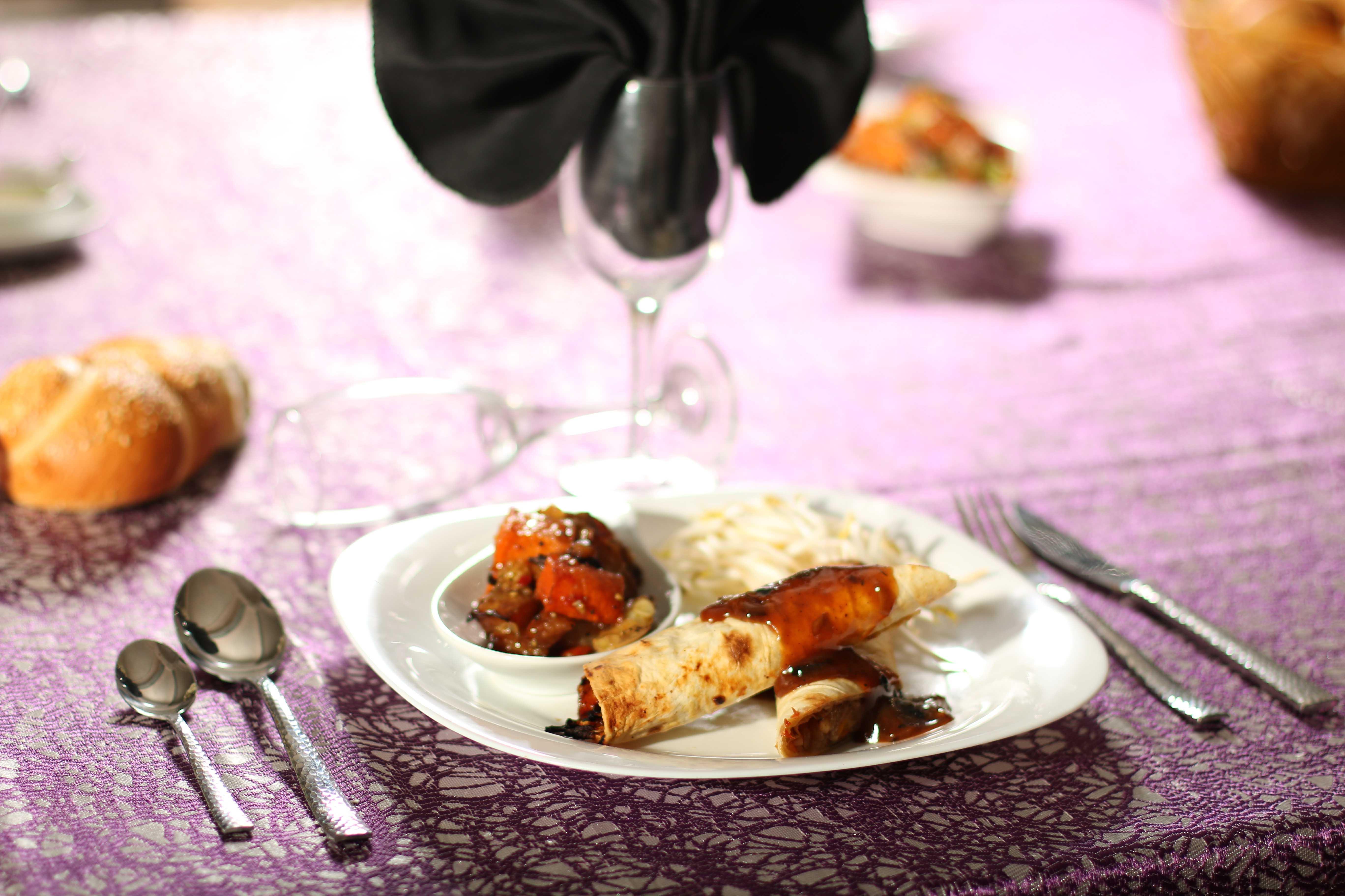 ראפ ירקות מוקפצים עם צ'ילי
