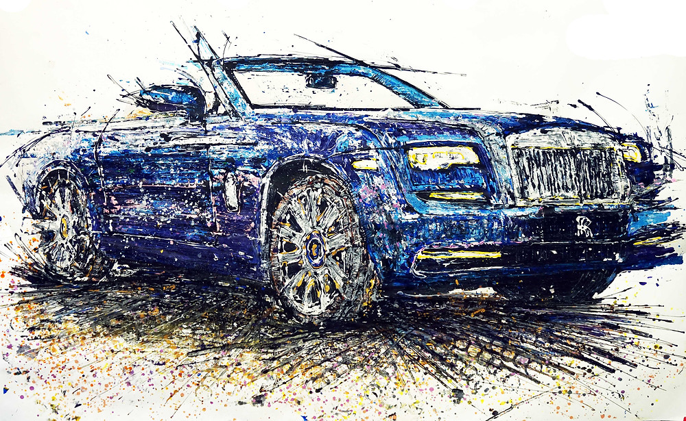 Rolls-Royce Dawn bespoke painting by Popbang Colour for Chutzpah Car