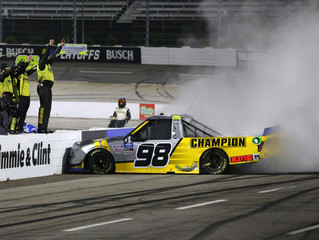 Grant Enfinger races into Championship 4 with Gander Trucks win at Martinsville