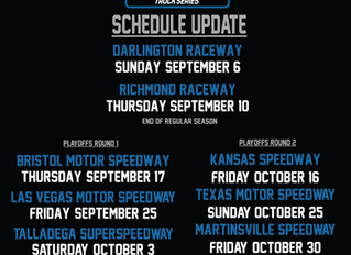 NASCAR Announces Remainder of 2020 Schedule