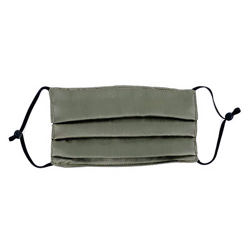 Silk Face Mask- Gray Olive