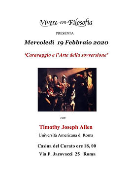19-02-2020 CARAVAGGIO E L'ARTE DELLA SOV