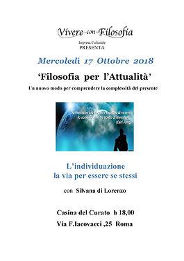 Filosofia per l'attualità - 17-10-18 - Vivere con Filosofia - Roma