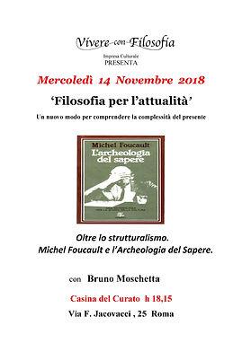 14/11/18 - Oltre lo strutturalismo - Vivere con Filosofia - Roma - Bruno Moschetta