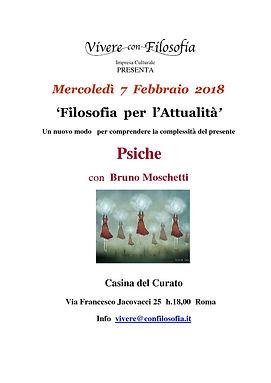 Vivere con Filosofia presenta: Psiche con Prof.re Bruno Moschetti - Roma 07/02/2018 - Casina del Curato