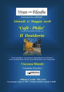 Vivere con Filosofia presenta: Il desiderio con Vincenza Minniti - Milano 17/05/2018 - Officina Coviello