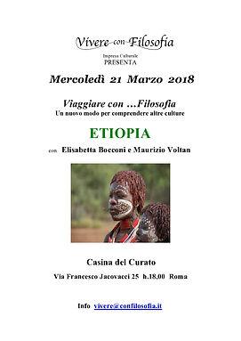 Vivere con Filosofia presenta: Etiopia con Elisabetta Bocconi e Maurizio Voltan - Roma 21/03/2018