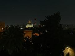 Dalla terrazza panoramica del Grand Hotel del Gianicolo - Cena di Natale di Vivere con Filosofia