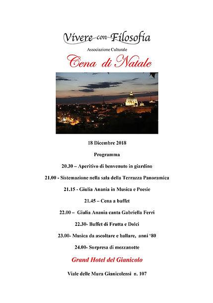 Cena di Natale - Vivere con Filosofia - Grand Hotel del Gianicolo - Roma - con Giulia Anania