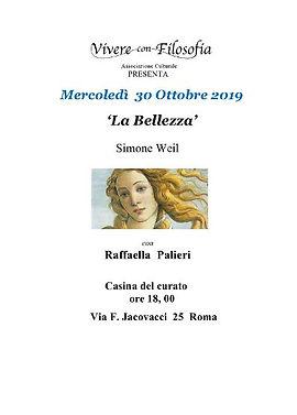 30_10_2019 La bellezza - Vivere con Filo
