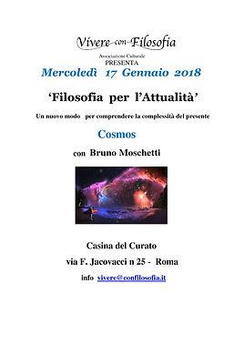 Vivere con Filosofia presenta: Cosmos con Prof.re Bruno Moschetti - Roma 17/01/2018 - Casina del Curato