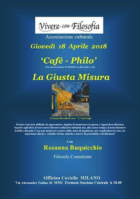 Vivere con Filosofia presenta: La giusta misura con Rosanna Buquicchio - Milano 18/04/2018 - Officina Coviello
