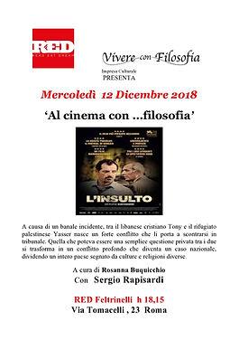 Vivere con Filosofia: 12-12-18 RED Feltrinelli Roma - L'Insulto - con Rosanna Buquicchio e Sergio Rapisardi